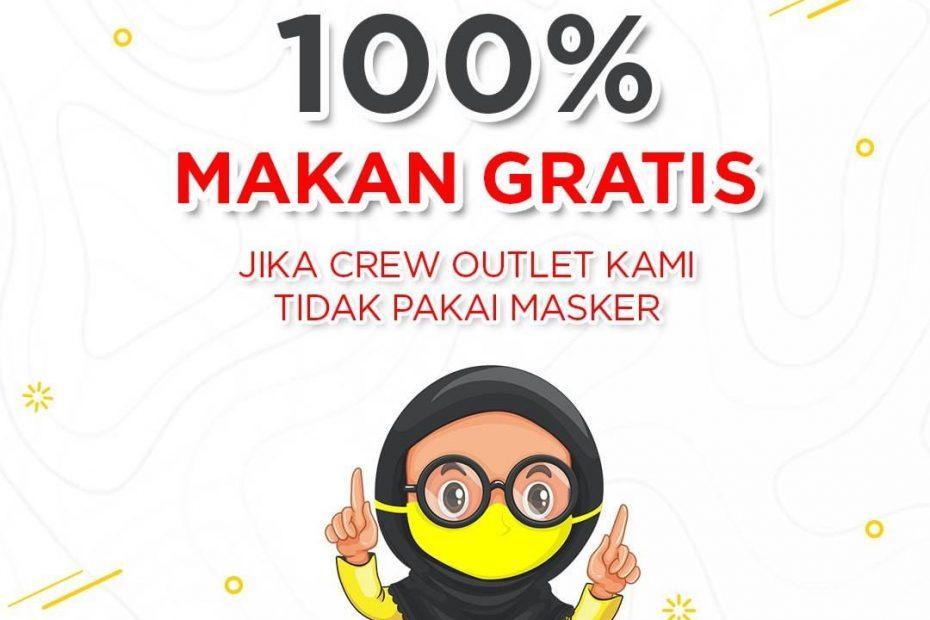 gratis jika ada yang tidak pakai masker