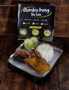 paket entok premium bumbu ireng (nasi box)
